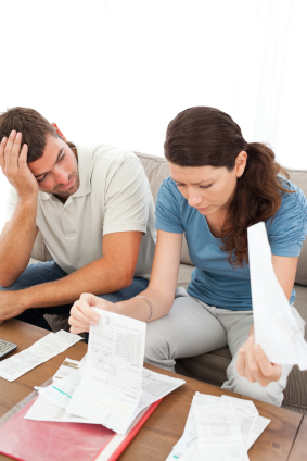 Couple Discussing Whether They Can Afford Family Leave