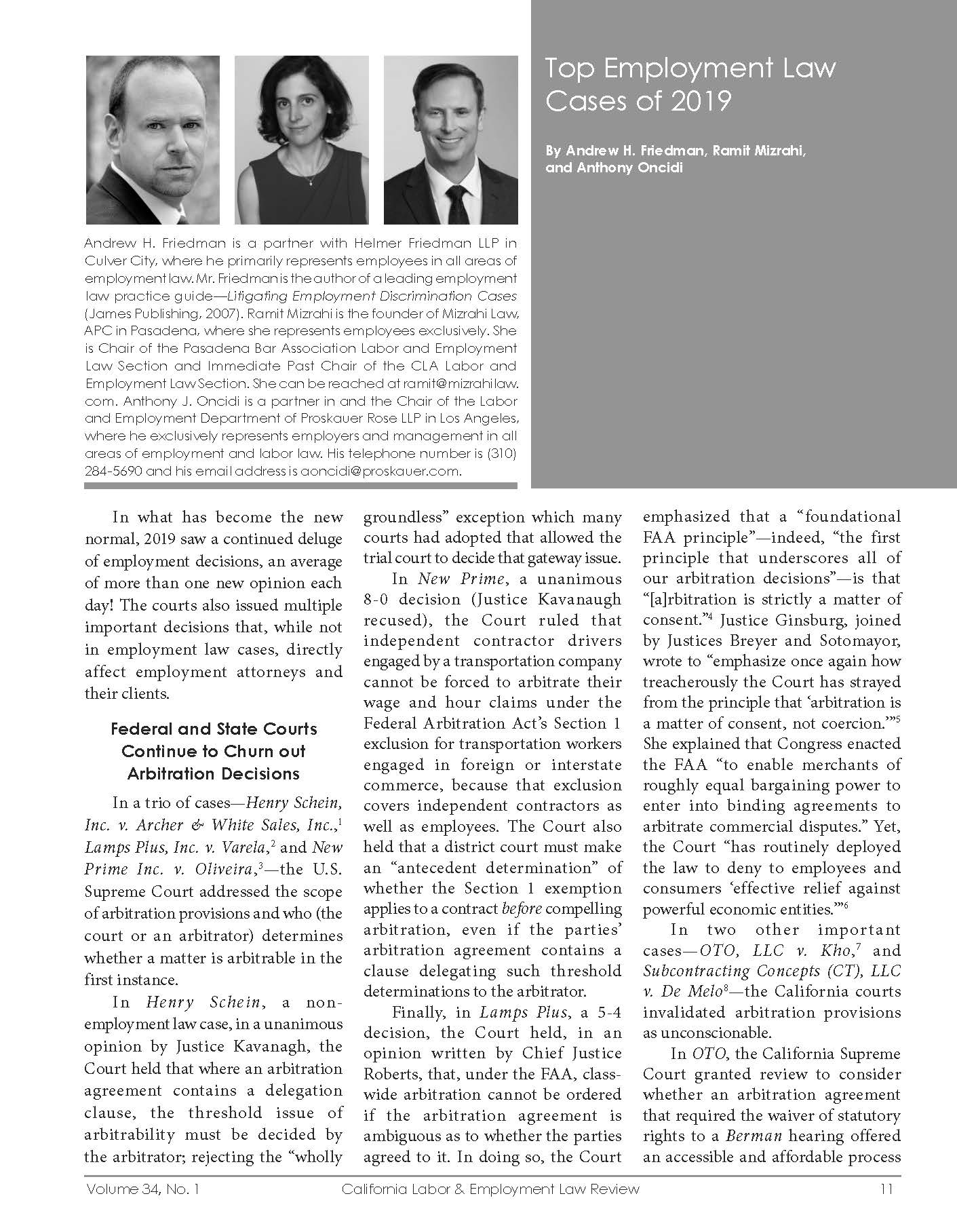 Image of Labor and Employment Law Article