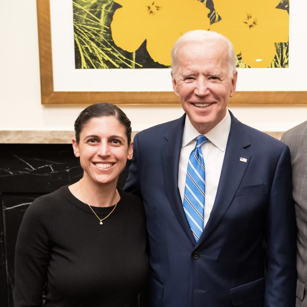 Ramit Mizrahi with President Joseph R. Biden, Jr.